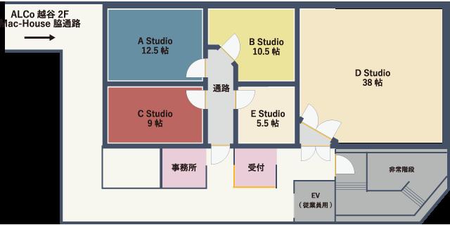 LoCo Music Studio フロアーガイド